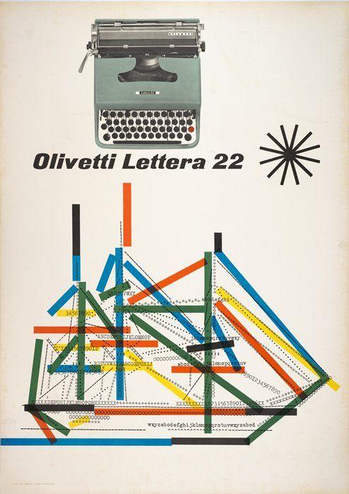 Olivetti - Lettera 22 - Giovanni Pintori, 1962