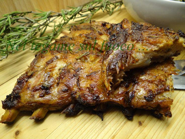 Costine di maiale al finto barbecue - ricetta secondi economica - | Nel Tegame sul Fuoco...
