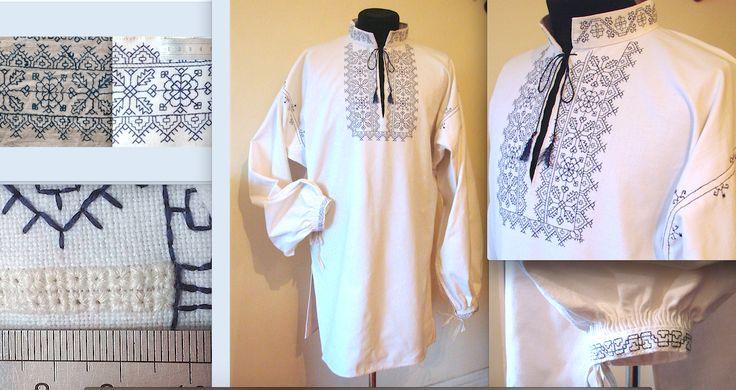 Сорочка з льняного полотна вишита натуральний шовком за орнаментами 17ст. Приватна власність замовника