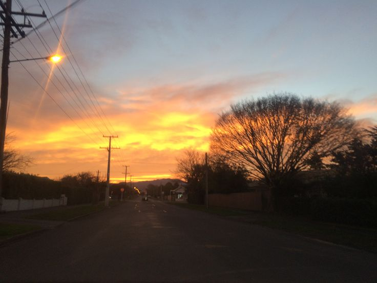 Sun set in Masterton, New Zealand🌛