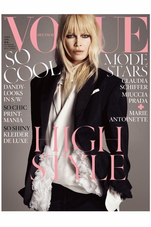 UM RAIO DE SOL NA ÁGUA FRIA By Marta Martins : Claudia Schiffer for Vogue Germany