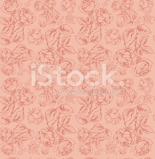 Seamless Pattern with Rose royalty-free stock illustration
