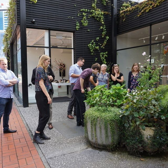 Scouting out the #urban #ecology at #Britomart #Auckland at our internal Walk&Talk lunchtime sessions.