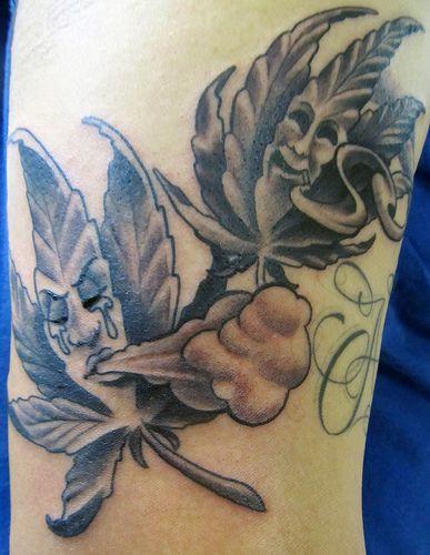 Marijuana, smile now cry later, tattoo | Flickr - Photo Sharing!