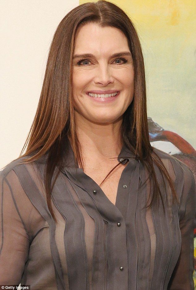 Brooke Shields steals the show in daring sheer blouse to New York Art Week opening | Daily Mail Online