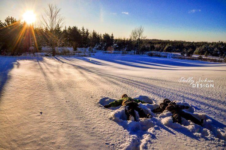 Winter backyard in Grey County, Ontario