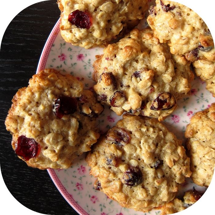 Cookies flocons d'avoine et cranberries