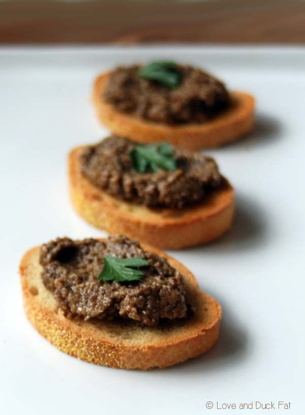 Black olive tapenade with anchovy | Easy appetizer recipe - Love and Duck Fat