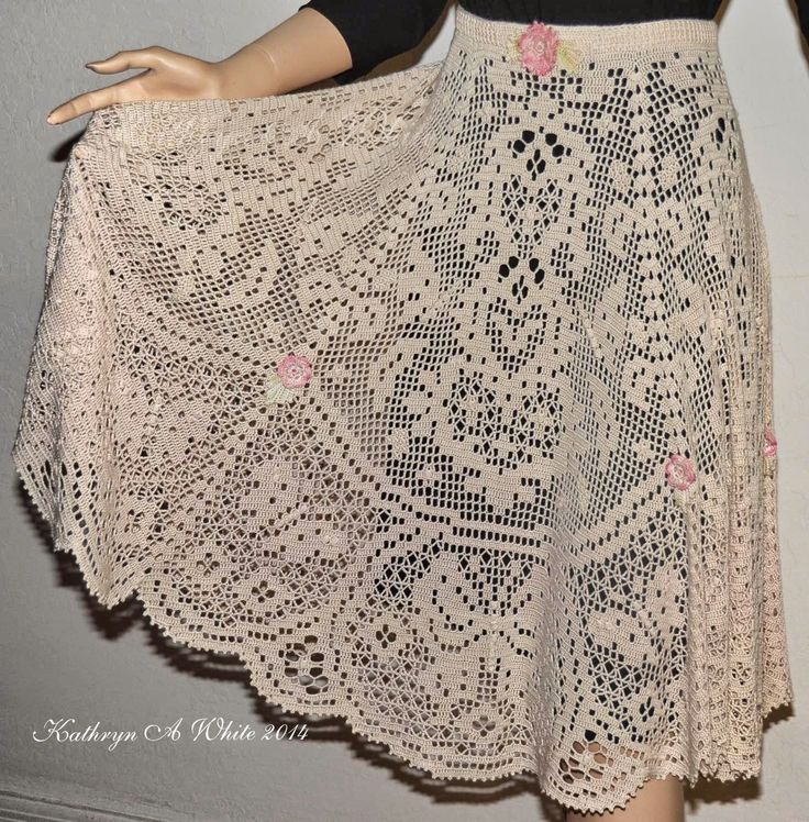 Crochet N Beads: My Fantasy Filet skirt 2nd place winner in the 2014 CGOA design Contest Fashion Division.
