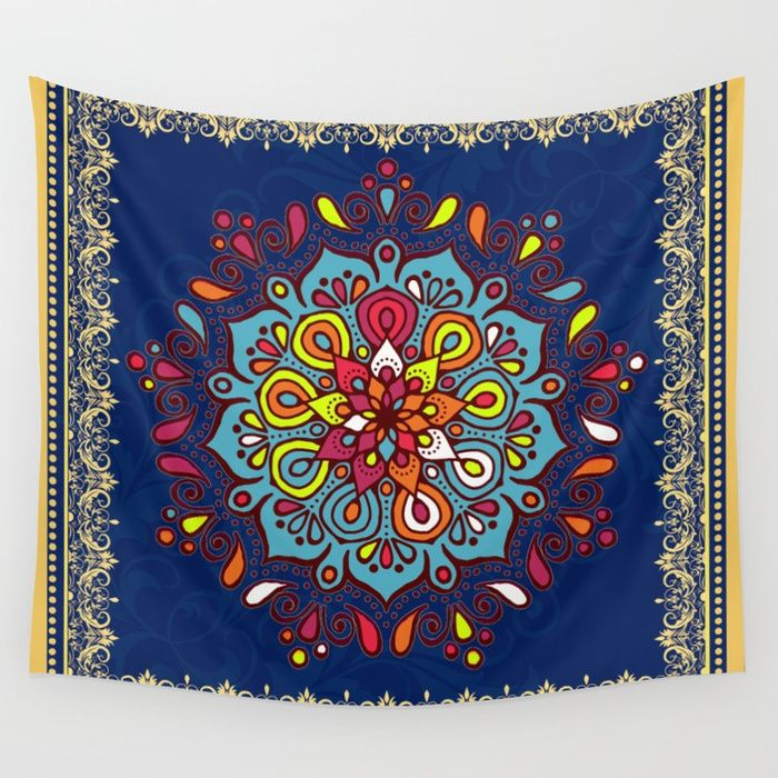 Buy Moroccan Art Traditional Floral Design Wall Tapestry By