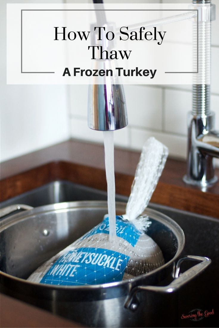 How to safely and easily thaw a frozen turkey for Thanksgiving. Here are my simple tips on how to easily thaw your Thanksgiving turkey. It is very important to safely thaw a frozen turkey. Shortcuts are not the answer.