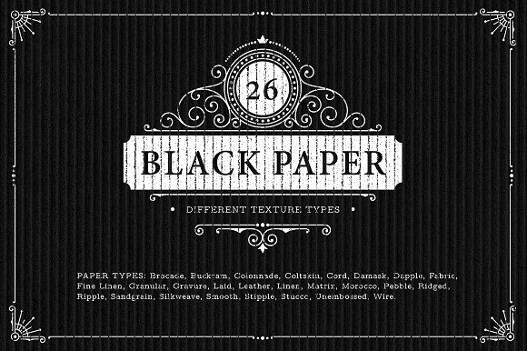 26 Black Paper Texture Backgrounds @creativework247