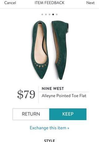 NINE WEST Alleyne Pointed Toe Flat from Stitch Fix. https://www.stitchfix.com/referral/4292370