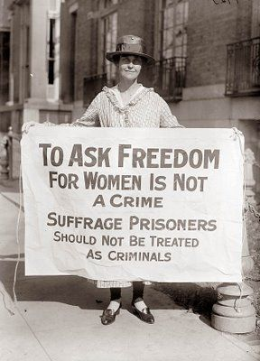 To Ask Freedom for Women is Not a Crime. Suffrage Prisoners Should Not Be Treated as Criminals. banner