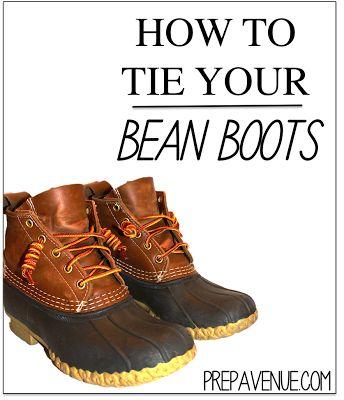 How to tie your Bean Boots! | www.prepavenue.com