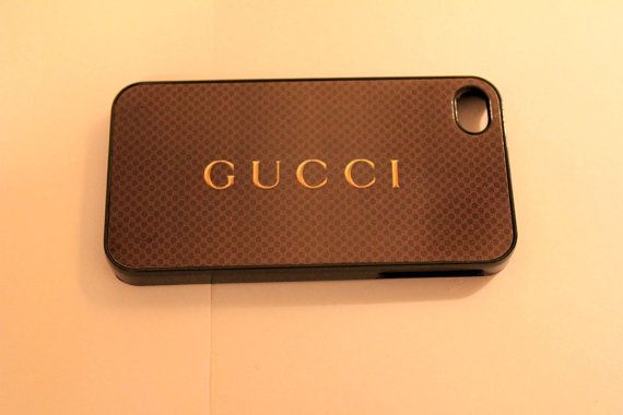 Gucci phone case hard iphone5 or iphone4 Brown logo by CaseShoppe, $15.99