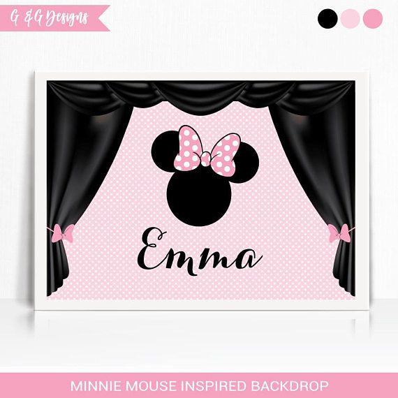 Minnie Mouse Inspired Backdrop Printable Minnie Backdrop
