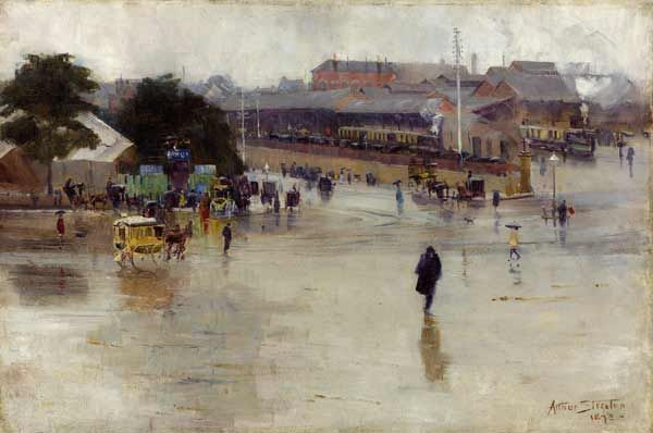 Arthur Streeton, The railway station 1893
