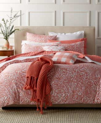 charter club damask designs paisley hibiscus bedding collection created for macyu0027s