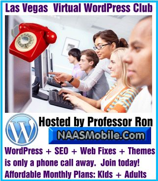 Las Vegas WordPress Training: Affordable, Live, and Local. Learn the fundamentals of WordPress. Are you a resident or tourist seeking to add the power of WordPress to your resume? As Professor Ron, I will personally take you through the tedious and meticulous steps of mastering the concept of WordPress. http://www.naasmobile.com/las-vegas-wordpress-training/