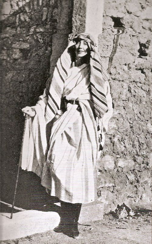 English travel writer and explorer Rosita Forbes. From 1920 to 1921, she was the first European woman to visit the Kufra Oasis in Libya.