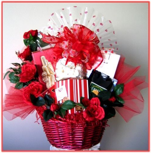 7 best gift baskets valentines day images on pinterest romance this gorgeous gift basket is filled with all kinds of gourmet products sciox Image collections