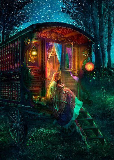 Gypsy Caravan   you too can tell fortunes....rider,waite tarot cards.  books also available. the apprentices handbook to the tarot....excellent