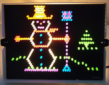 Lite Brite! Unfortunately for me, by the time I got old enough to play with this, all of the puzzles had been finished.