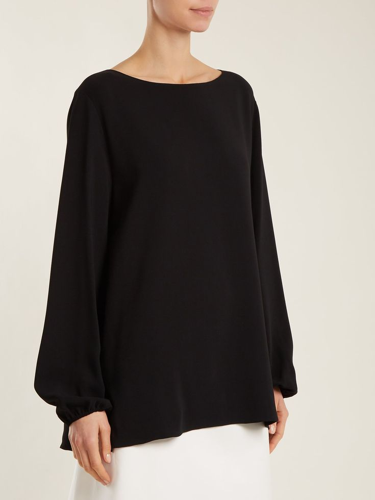 Click here to buy The Row Sorel boat-neck crepe top at MATCHESFASHION.COM
