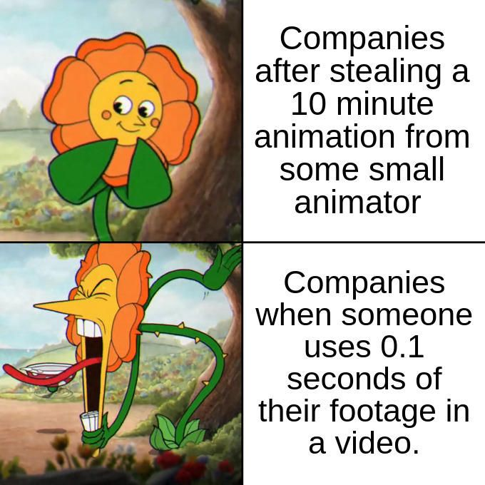 Based Of A True Story Cuphead Flower Cagney Carnation Stupid Memes Funny Facts Funny Relatable Memes