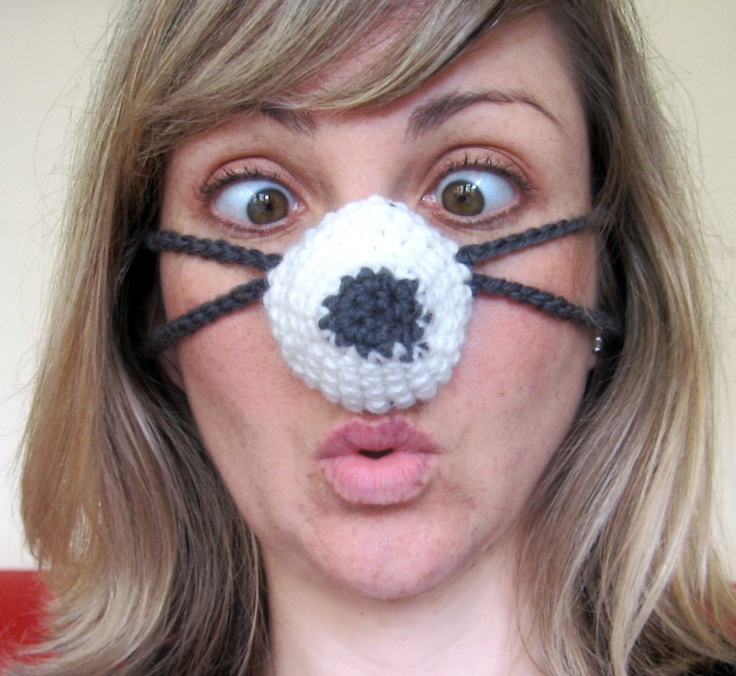 Knitted Nose Warmer Pattern : Nozy Nose Warmer for a cozy nose. Shoes + Accessories Pinterest Crochet