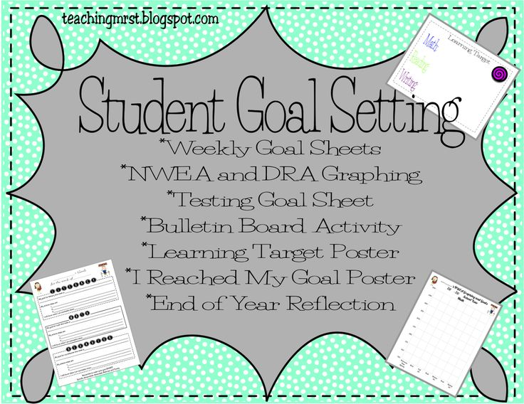 Teaching Mrs. T: Student Goal Setting for NWEA, DRA, Behavior and More! Encourage students to take ownership of their learning!