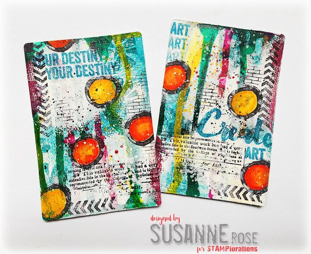 Susanne Rose Designs: Altered Playing Cards with STAMPlorations, Mixed Media