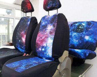Housses de siège avant de voiture impression Galaxy par funkmyseat