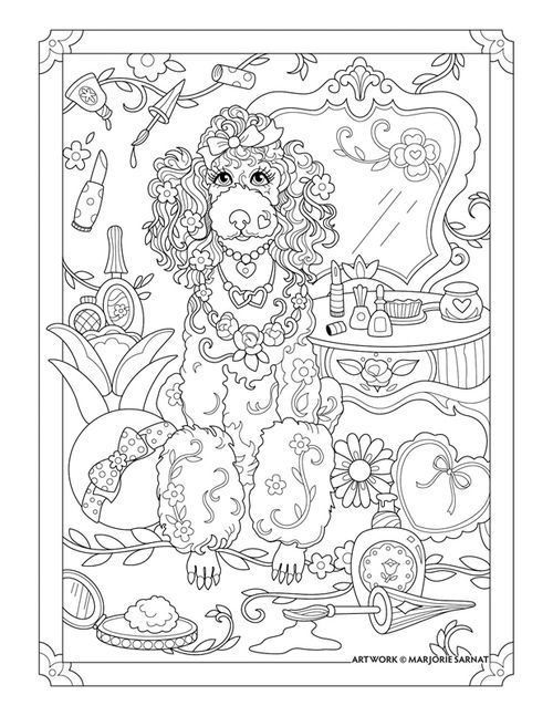 Adult Coloring Pages Books Stress Relief Book Dogs