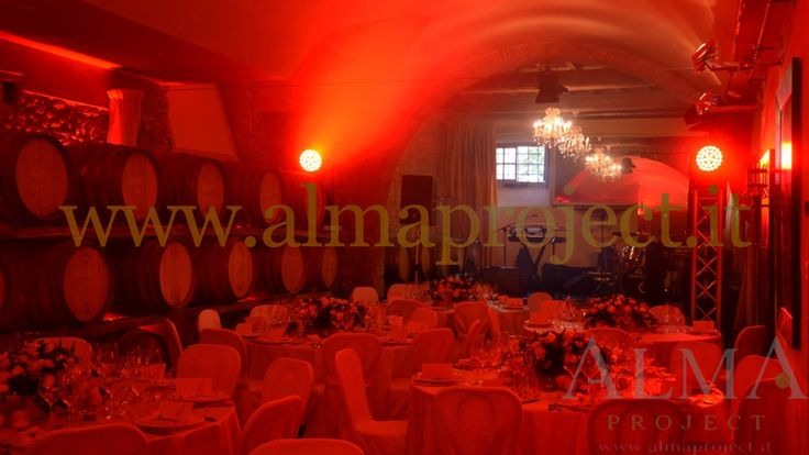 ALMA PROJECT @ Villa Mangiacane - Barriccaia_Cellar _ Stage Moving heads dinner party red 077