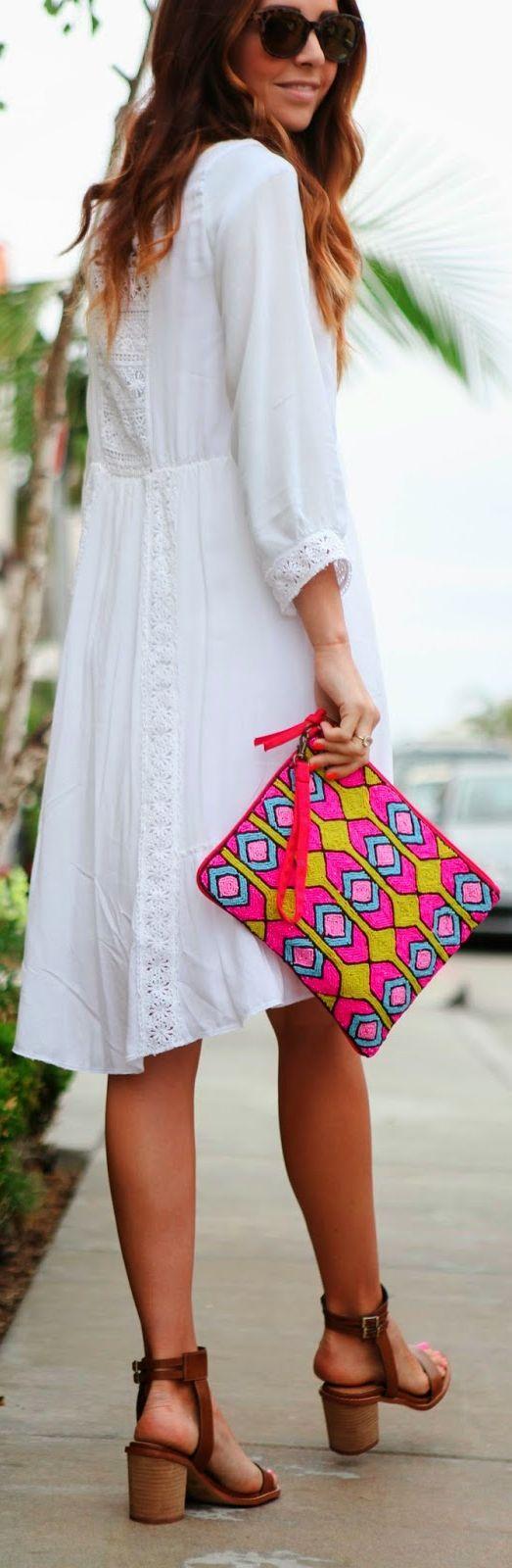 Lulu's Fuchsia Moroccan Print Flat Clutch/ the shoes oooo so cute