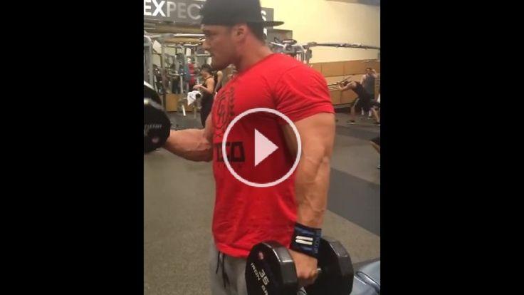 Ifbb pro Jeremy Buendia Biceps Workout