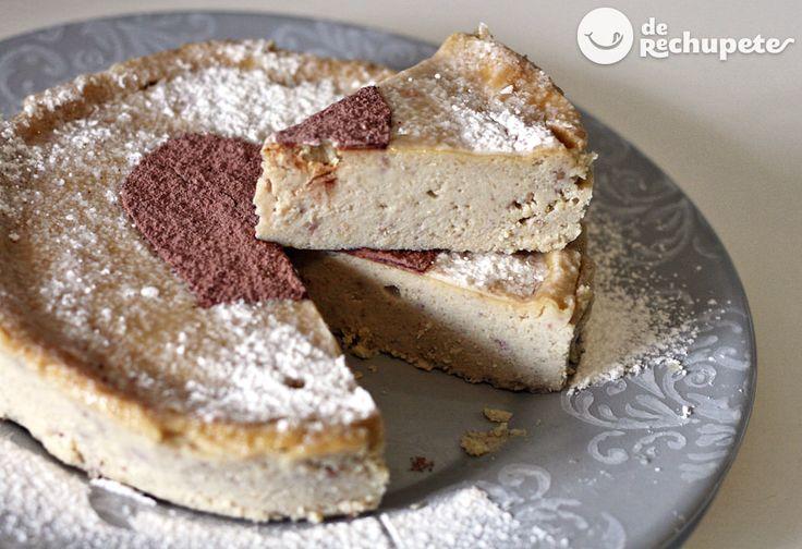 Tarta de queso y crema de castañas http://www.recetasderechupete.com/tarta-de-queso-y-crema-de-castanas/11744/ #Magostos #derechupete