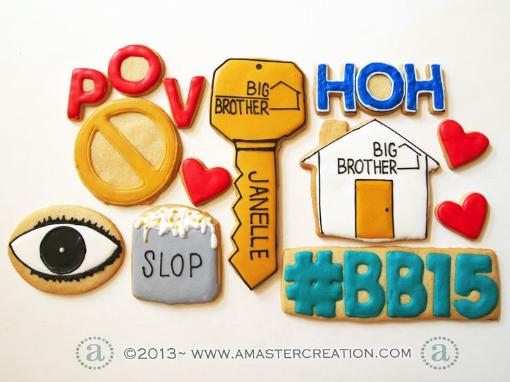 Big Brother TV show Cookie Set www.amastercreation.com