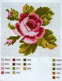 Gallery.ru / Фото #40 - розочки - kfnnf (I can convert this into a c2c crochet blanket!)