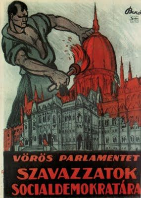 Hungarian Soviet Republic propaganda poster 1919: MIHÁLY BIRÓ.
