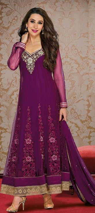 Pink and Majenta color family  Anarkali Suit
