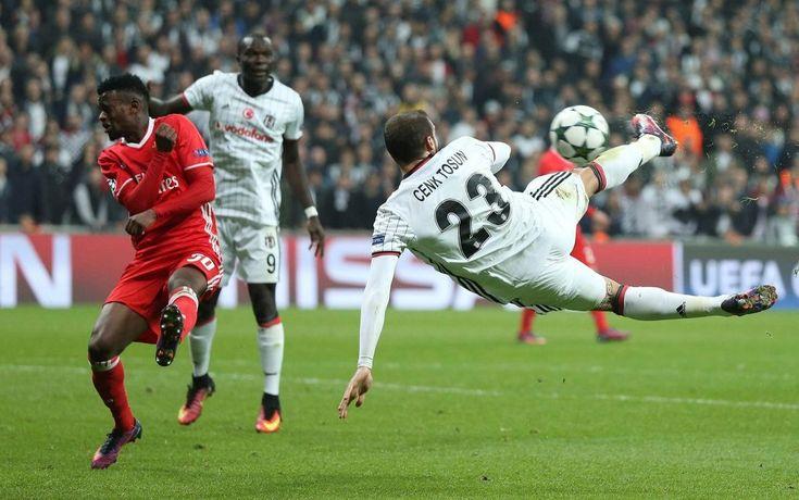 Beşiktaş'lı Cenk Tosun'un Şampiyonlar Ligi grup maçında Benfica ağlarına gönderdiği gol Şampiyonlar Liginde haftanın golü seçildi.