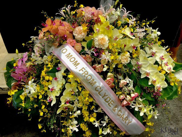 Phalaenopsis Orchid Casket Spray Kui I Florist LLC Hilo Hawaii Kuiandiflorist