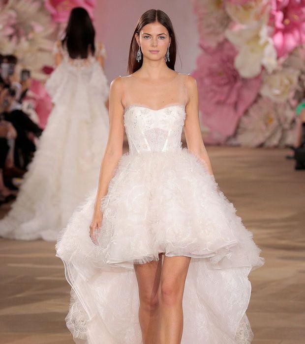 Robe de mariée 2017 - Ines Di Santo, robe ballerine avec jupon asymétrique