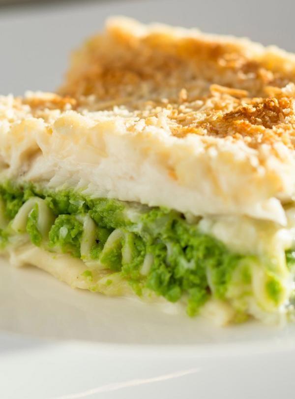 Recette de Ricardo de lasagne aux petits pois et au poisson