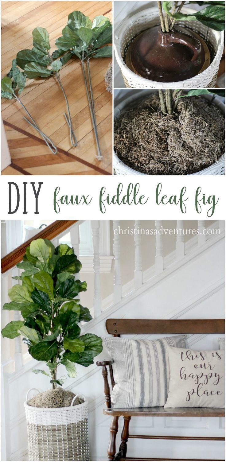 diy faux fiddle leaf fig tree - Fiddle Leaf Fig Tree Care