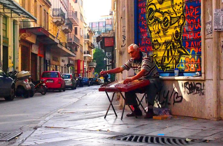 In the streets of Athens