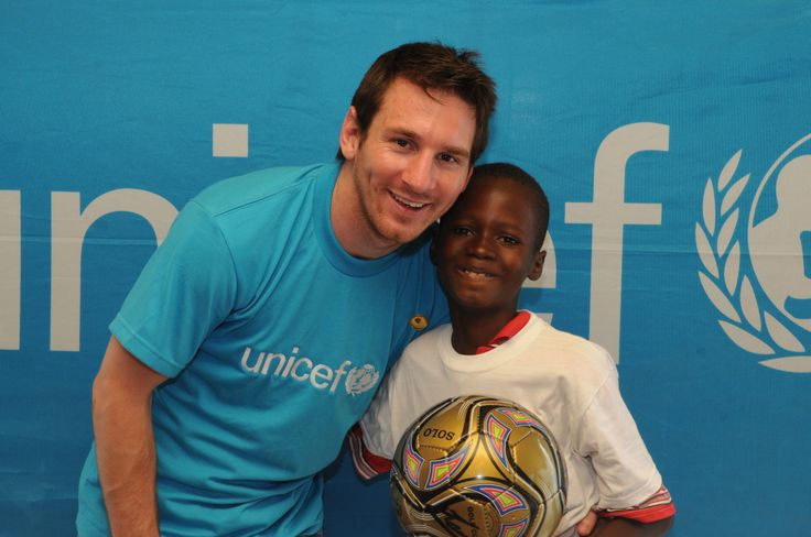 """UNICEF ambassador Lionel Messi said; """"It was overwhelming to see the overcrowded displacement camps, the poverty in which people live."""""""